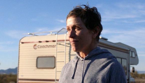 "La célebre Frances McDormand protagoniza el drama social ""Nomadland"". (Foto: Captura YouTube)."