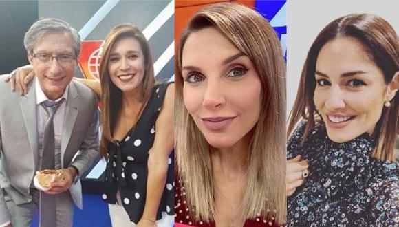 Verónica Linares comparte foto del pasado junto a Federico Salazar, Mávila Huertas y Juliana Oxenford. (Foto: Instagram)