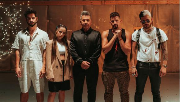 """Ricardo Montaner, Mau y Ricky, Camilo, Evaluna Montaner estrenaron el tema """"Amén"""". (Foto: @montaner)"""