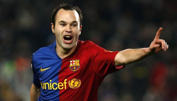 Iniesta en el 2009 con la camiseta del Barcelona. (Foto: AFP)