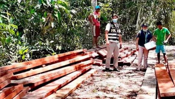 San Martín: incautan 6.000 mil pies tablares de madera de origen ilegal en Yurimaguas. (Foto: Ministerio Público)