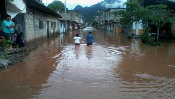 Lluvias en Tingo María dejan más de cien familias damnificadas