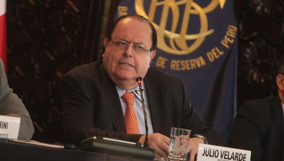Julio Velarde, presidente del Banco Central de Reserva del Perú (BCR). (Foto: Yodashira Perez | GEC)