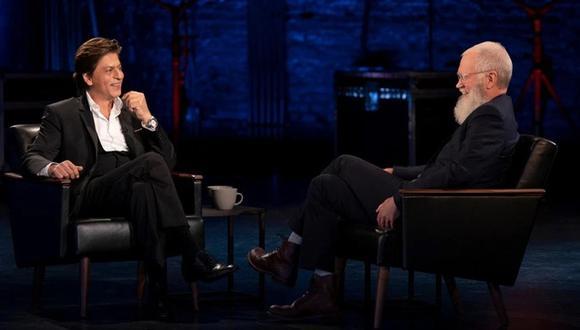Shah Rukh Khan en el programa de David Letterman. Foto: AP