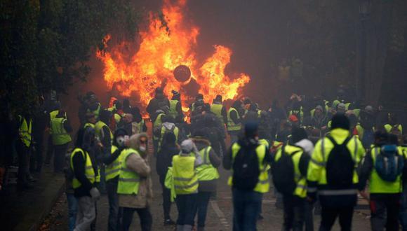 Protesta de los chalecos amarillos en París. Foto: archivo de Reuters.
