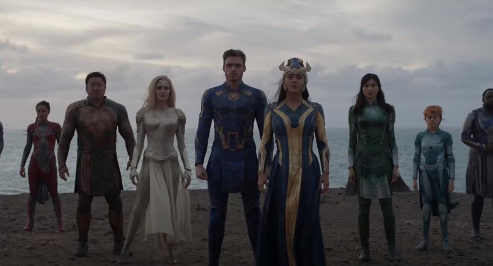 """Con un extenso elenco lleno de estrellas que incluyen a Angelina Jolie, Kit Harington y Salma Hayek, """"Eternals"""" es la siguiente esperanza de un 'blockbuster' por el monolítico Marvel Studios, autor de la rompedora de récords """"Avengers: Endgame"""". El filme se estrenará en octubre del 2021, aunque inicialmente estaba programada para noviembre del 2020. (Foto: Disney)"""
