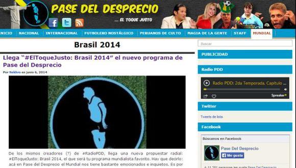 """""""#ElToqueJusto: Brasil 2014"""", la novedad de Pase del desprecio"""