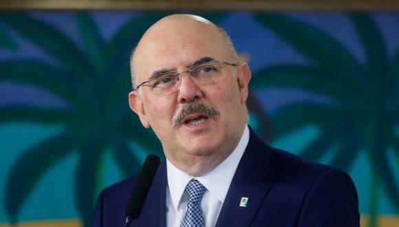 La Fiscalía brasileña solicitó a la Corte Suprema abrir una investigación al ministro de Educación, Milton Ribeiro. (AFP/Presidencia de Brasil).