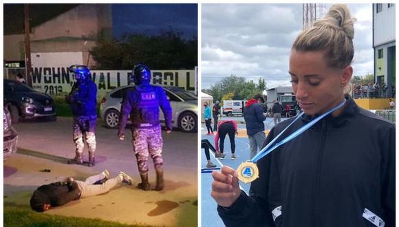 La campeona argentina de atletismo persiguió y atrapó a un ladrón. (Foto: Twitter @todonoticias | Instagram Evangelina Thomas)