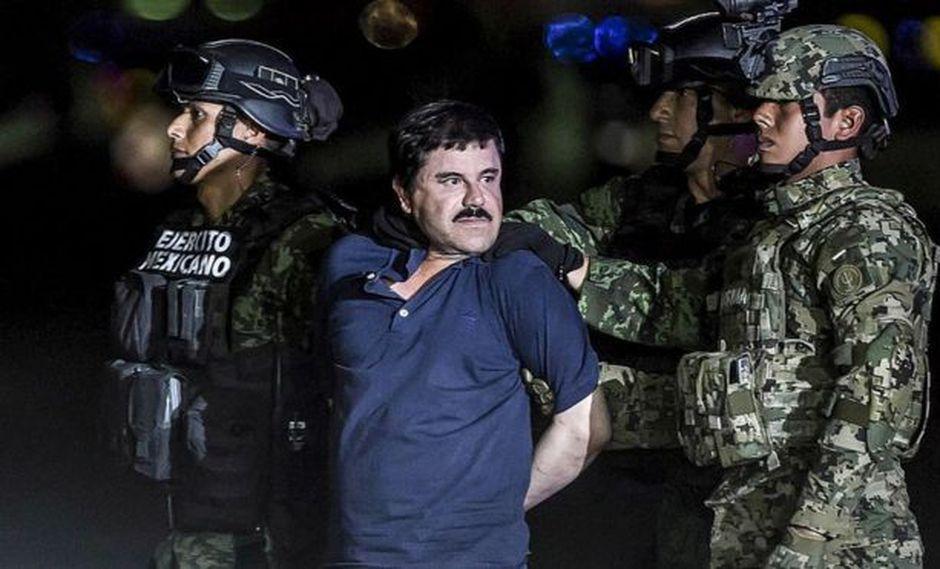 Joaquín Guzmán Loera, más conocido como El Chapo, fue condenado a cadena perpetua y 30 años de prisión por los delitos de narcotráfico y lavado de dinero. Foto: Getty Images, via BBC Mundo