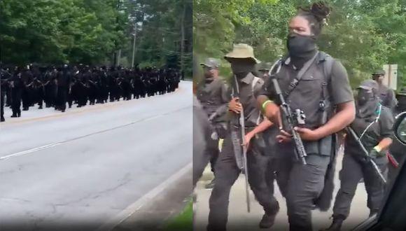 Así fue la manifestación por el 4 de julio de los milicianos de la NFCA en Georgia, Estados Unidos. (Foto: capturas de Twitter y YouTube)