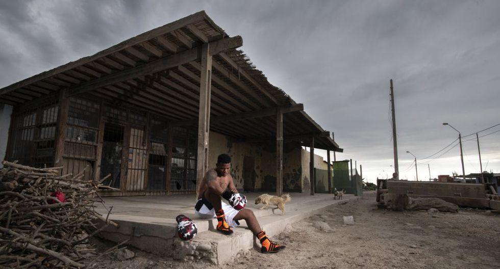 Morán en el centro poblado Atahualpa, en El Carmen. De ahí proviene su familia. (Foto: Luis Miranda)