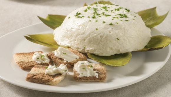 Mousse de alcachofa y queso