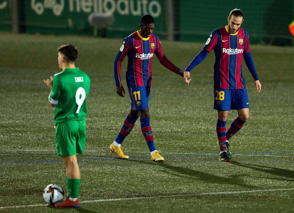 Barcelona enfrentó al Cornellá por la Copa del Rey