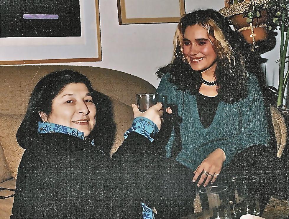 Con Mercedes Sosa una de sus grandes maestras