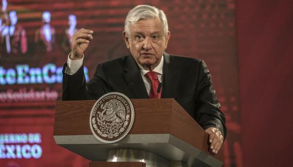 Andrés Manuel López Obrador, presidente de México, durante una conferencia de prensa en el Palacio Nacional en la Ciudad de México. (Foto: Alejandro Cegarra / Bloomberg).