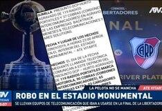 Copa Libertadores 2019: reportan robo de equipos de telecomunicaciones en el interior del estadio Monumental