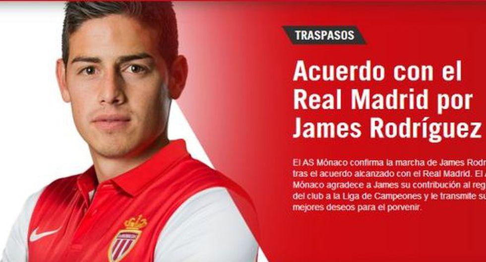 AS Mónaco no quería vender a James Rodríguez