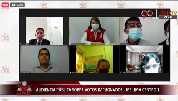 Audiencia Jurado Nacional de Elecciones.