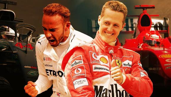 Lewis Hamilton está a dos títulos mundiales de alcanzar a Michael Schumacher (Foto: Fox Deportes)
