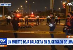 Cercado de Lima: un hombre falleció en medio de una balacera desatada en la Av. Colonial