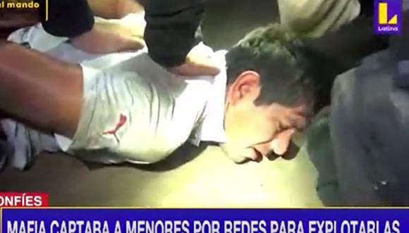 La Policía capturó a 22 presuntos integrantes de una red criminal que se dedicaba a la explotación sexual de menores | Foto: Captura / Canal Latina
