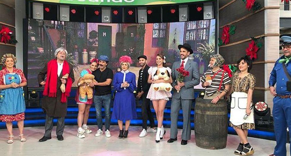 Todos los integrantes del programa 'Hoy' de Televisa participaron caracterizando a un personaje de 'El Chavo del 8'. (Foto: Instagram)