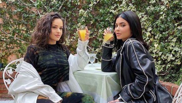 En un jardín, la cantante y la socialité posan con mucho estilo mientras sostienen unas bebidas. (Foto: Instagram/ Rosalía)