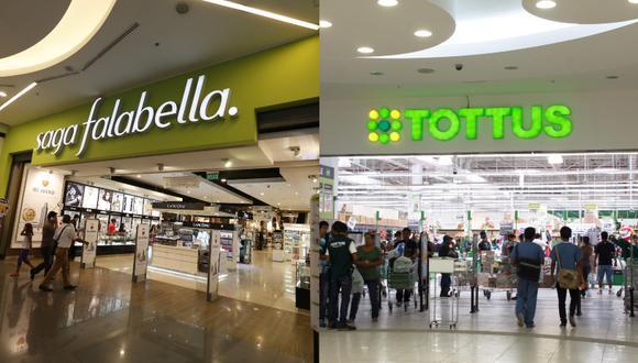 Saga Falabella y Tottus pidieron se tenga en consideración un periodo menor de la vigencia de derechos antidumping. (Foto Composición: GEC)