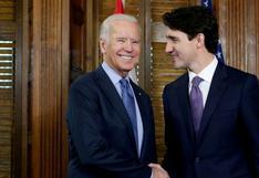 """Primera reunión bilateral entre Biden y Trudeau """"el mes próximo"""""""