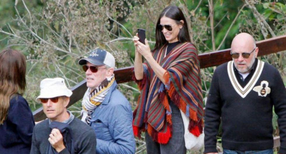 Demi Moore. La actriz visitó Machu Picchu en octubre de 2016. En la travesía fue acompañada por su hija Rumer. (Foto: Andina)