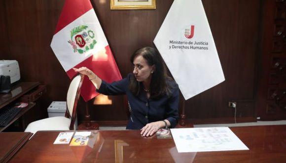 """Yo no intervengo para nada en la renuncia de procurador Ramírez"", indicó Ana Teresa Revilla. (Foto: Hugo Pérez/ GEC)"