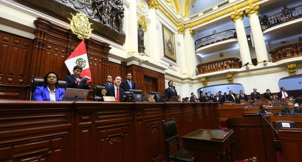 El presidente del Congreso, Daniel Salaverry, ha presidido casi en su totalidad los debates en el pleno sobre reforma política. (Foto: Congreso)