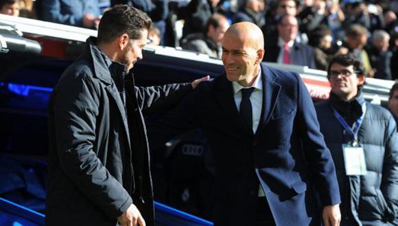 Zinedine Zidane elogió el buen juego del Atlético de Madrid