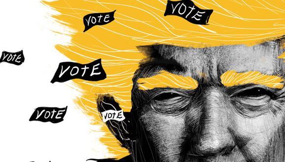 """""""¿Mentir compulsiva y comprobadamente no debería ser suficiente para ser derrotado en las urnas? Setenta y cuatro millones de estadounidenses piensan que no"""". (Ilustración: Giovanni Tazza)."""