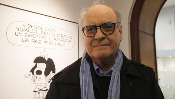 El dibujante argentino Joaquín Lavado, también conocido como Quino, anunció su retiro en 2009. En esta foto lo vemos en el Museo del Humor de Buenos Aires en junio de 2014. (Foto: REUTERS/Enrique Marcarian)