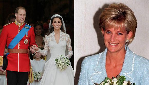 La historia de amor de Guillermo y Catalina de Cambridge está marcada por los detalles a la fallecida Diana de Gales. (Foto: AFP)