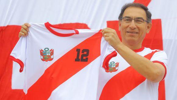 La visita de Martín Vizcarra a la selección peruana de fútbol en la Videna. (Foto referencial: Presidencia / Video: Canal N)