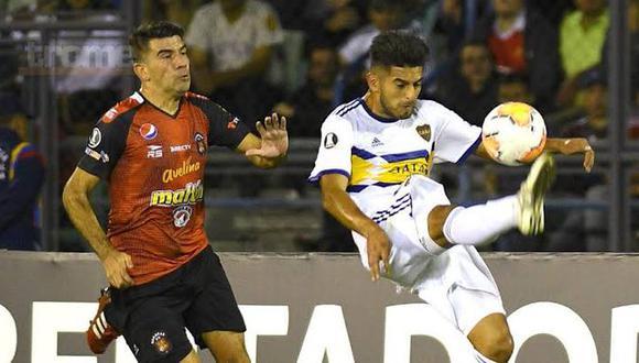 Zambrano fue uno de los mejores futbolistas en el duelo de Boca ante Caracas por la Copa Libertadores. (Foto: AP)