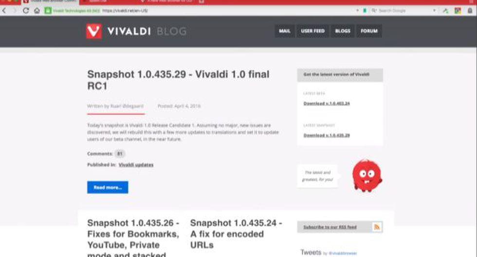Vivaldi, el navegador que busca competir con Google Chrome