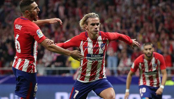 Atlético de Madrid hizo respetar su nueva localía frente a un rival duro por la Liga Santander. El único gol del encuentro lo convirtió Antoine Griezmann. (Foto: AFP)