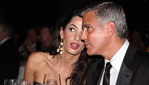 Esposa de George Clooney no está embarazada, dice portavoz
