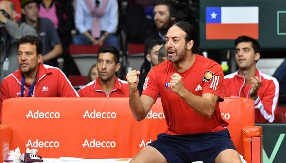 Christian Garín derrotó 2-0 a Jurij Rodionov y con este triunfo la serie terminó a favor de Chile por 3-2 sobre Austria y clasificó al Grupo Mundial de la  Copa Davis 2019. (Foto: AFP).