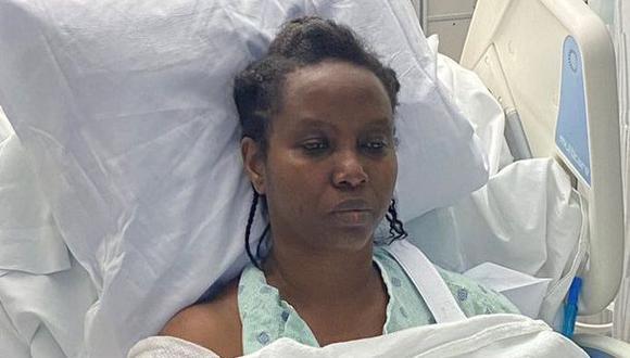 Martine Moïse permanece hospitalizada en Miami. (Foto: Martine Moïse).