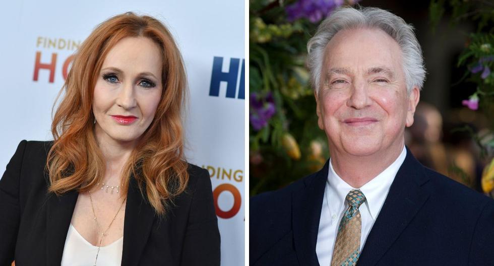 La escritora británica J. K. Rowling recordó una escena del actor  Alan Rickman en Harry Potter. (AFP).