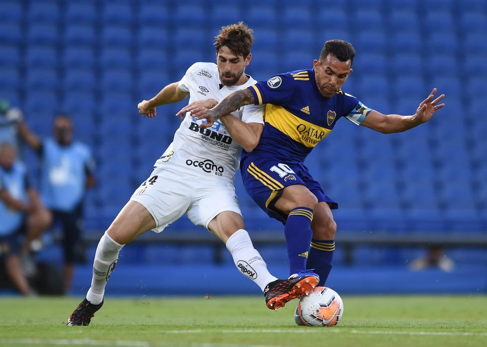 Boca enfrentó a Santos por la semifinal de ida de la Copa Libertadores