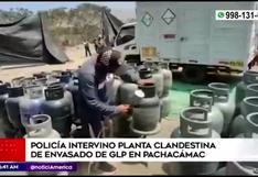 Pachacámac: PNP intervino plata clandestina de envasado de GLP