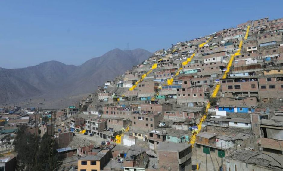 La Municipalidad de Lima indicó que en Las Viñas de San Juan ha construido 60 losas deportivas, 17 casas solidarias y 300 escaleras. (Difusión)