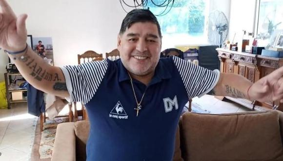 Diego Maradona publicó video en Instagram mandando fuerzas a las personas que luchan contra el coronavirus. (Foto: Agencias)