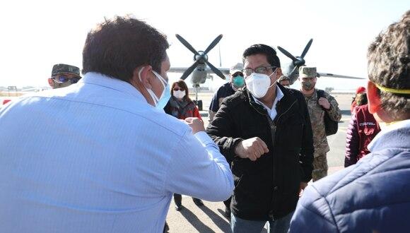 El primer ministro, Vicente Zeballos, llegó a Ayacucho, a fin de supervisar los servicios de salud frente al COVID-19. (Foto: PCM)
